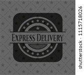 express delivery dark emblem....   Shutterstock .eps vector #1115718026