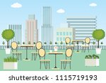 roof patio summer outdoor cafe... | Shutterstock .eps vector #1115719193