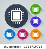 illustration of cpu circle...   Shutterstock .eps vector #1115719718