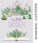 lovely illustration poster with ... | Shutterstock .eps vector #1115722556