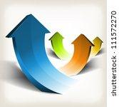 abstract rising arrows ... | Shutterstock .eps vector #111572270