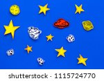 space concept. drawn stars ... | Shutterstock . vector #1115724770