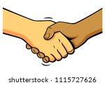 comics shake hands  vector   Shutterstock .eps vector #1115727626