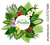 summer holidays banner of... | Shutterstock .eps vector #1115727680