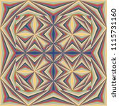 colorful geometric shawl  scarf ...   Shutterstock .eps vector #1115731160