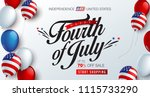 independence day usa sale... | Shutterstock .eps vector #1115733290