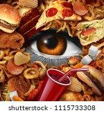 dieting watching your diet... | Shutterstock . vector #1115733308