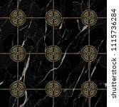 marble seamless pattern with... | Shutterstock .eps vector #1115736284