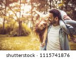 happy father playing and...   Shutterstock . vector #1115741876