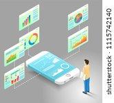 mobile data analytics flowchart ... | Shutterstock .eps vector #1115742140