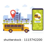 modern urban city student... | Shutterstock .eps vector #1115742200