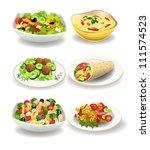 healthy food | Shutterstock .eps vector #111574523