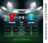 sport scoreboard with team 1 vs ... | Shutterstock .eps vector #1115752400