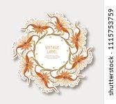 label  sticker in art nouveau...   Shutterstock .eps vector #1115753759