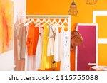 stylish dressing room interior... | Shutterstock . vector #1115755088