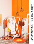 stylish dressing room interior... | Shutterstock . vector #1115755094