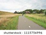 Cyclist On The 'ijsseldijk'  ...