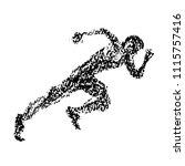illustration of sprinter drawn... | Shutterstock .eps vector #1115757416