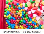 background of sweets and... | Shutterstock . vector #1115758580