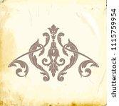 retro baroque decorations... | Shutterstock .eps vector #1115759954