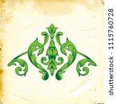 retro baroque decorations... | Shutterstock .eps vector #1115760728
