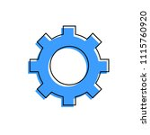 gear icon on white background... | Shutterstock .eps vector #1115760920