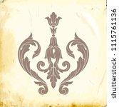retro baroque decorations... | Shutterstock .eps vector #1115761136