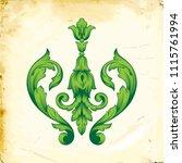 retro baroque decorations... | Shutterstock .eps vector #1115761994