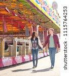 happy beautiful tourist couple...   Shutterstock . vector #1115764253