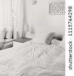 black and white still life of... | Shutterstock . vector #1115764298