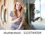 portrait of retro solo... | Shutterstock . vector #1115764334