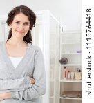 beauty portrait of middle age... | Shutterstock . vector #1115764418