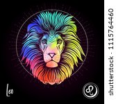 leo  lion zodiac sign.... | Shutterstock .eps vector #1115764460