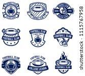 american football emblems.... | Shutterstock .eps vector #1115767958