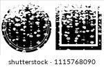 grunge texture set | Shutterstock .eps vector #1115768090