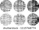 set of grunge textures in black ... | Shutterstock .eps vector #1115768774