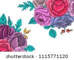 vintage vector floral template...   Shutterstock .eps vector #1115771120