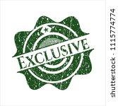 green exclusive rubber stamp | Shutterstock .eps vector #1115774774