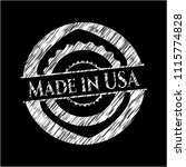 made in usa written with... | Shutterstock .eps vector #1115774828