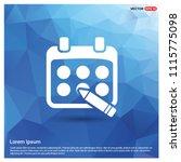 calendar icon   free vector icon | Shutterstock .eps vector #1115775098