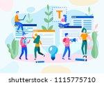 concept blogging  education ...   Shutterstock .eps vector #1115775710