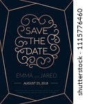 save the date wedding... | Shutterstock .eps vector #1115776460