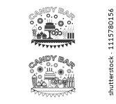 candy bar vector  icon. | Shutterstock .eps vector #1115780156