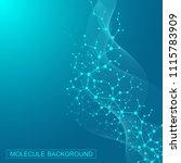 scientific molecule background... | Shutterstock .eps vector #1115783909