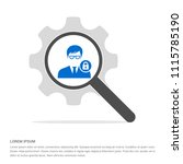 secure user icon   free vector... | Shutterstock .eps vector #1115785190
