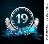 realistic nineteen years... | Shutterstock .eps vector #1115787818