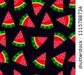 seamless pattern of watermelon. ...   Shutterstock .eps vector #1115788736