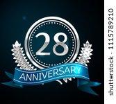 realistic twenty eight years... | Shutterstock .eps vector #1115789210