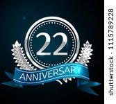 realistic twenty two years... | Shutterstock .eps vector #1115789228