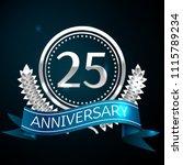 realistic twenty five years... | Shutterstock .eps vector #1115789234